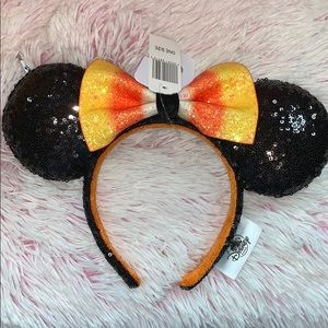 Disney Candy Corn black Sequined ears